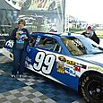 With Carl Edwards' car